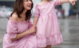 Đầm dự tiệc cho mẹ và bé