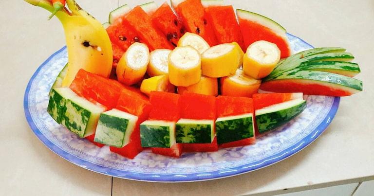 Người miền Trung thường dùng trái cây làm món tráng miệng