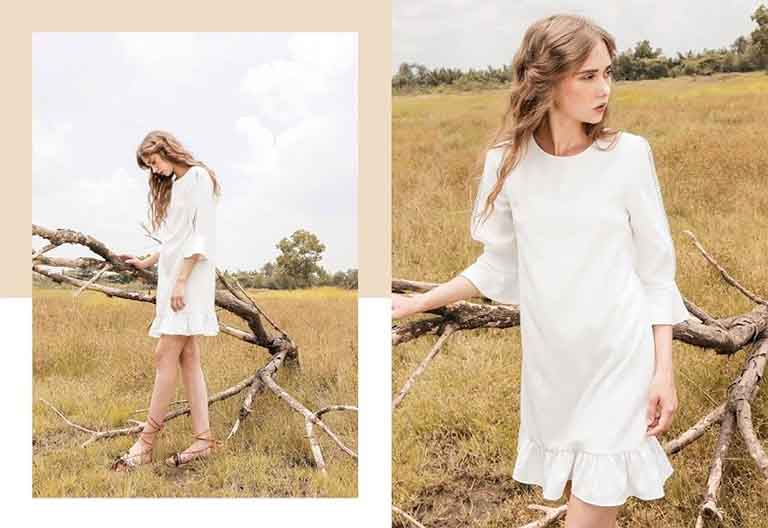 Váy dáng suông tạo sự thoải mái