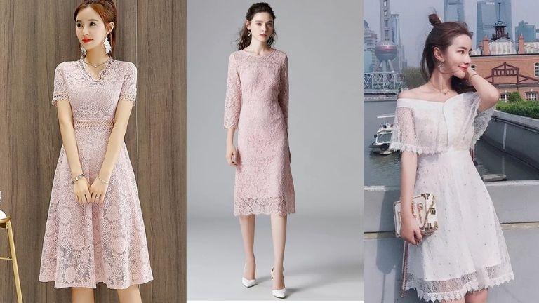 Váy ren xòe hoặc body ren phù hợp với nhiều người mặc