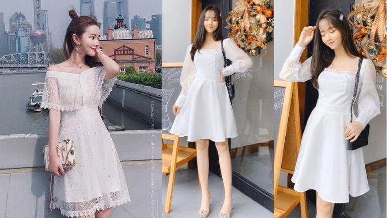 Váy trắng luôn là sự lựa chọn của nhiều chị em