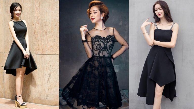 Váy dự tiệc cưới màu đen cá tính, hiện đại