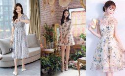 váy mặc đi đám cưới mùa hè